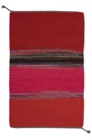 Static Reds 2 Handwoven wool rug by Regina Design