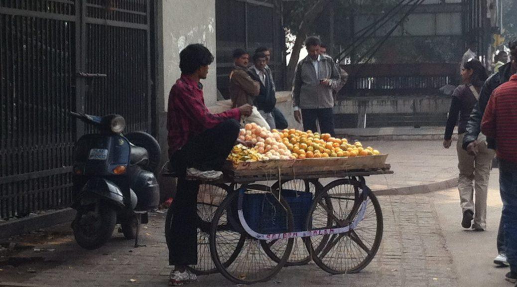 Fruit vendor in New Delhi