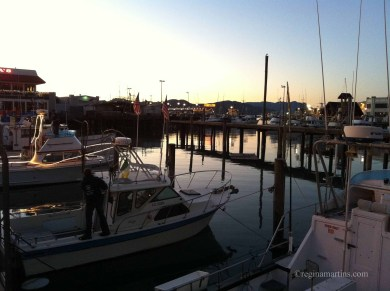 Boats and a sunset in San Francisco