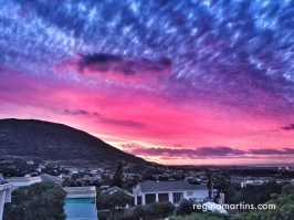 Noordhoek - Colours of the sunset - they were beautiful naturally. I've enhanced this photo with Snapseed. ©2015 Regina Martins