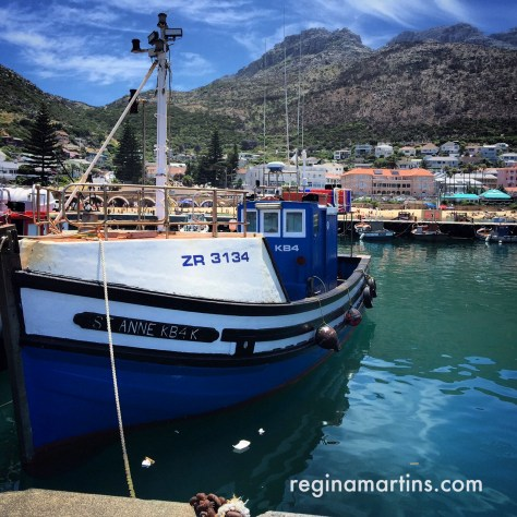 Fishing boat at Kalk Bay harbour ©2015 Regina Martins