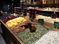 Sarona Market - seed, fruit and nuts ©2016 Regina Martins
