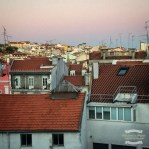 More red rooftops of Lisbon at dusk ©2016 Regina Martins