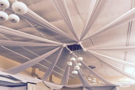 Wedding venue ceiling ©2016 Regina Martins