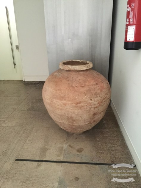 Urn found at the Roman Theatre of Lisbon ©2016 Regina Martins