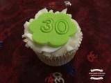 Green celebratory cupcake ©2017 Regina Martins