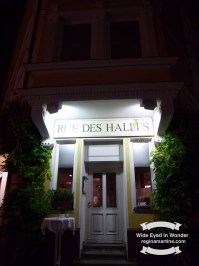 The Rue Les Halles French restaurant, delightful, and delicious food ©2016-2017 Regina Martins