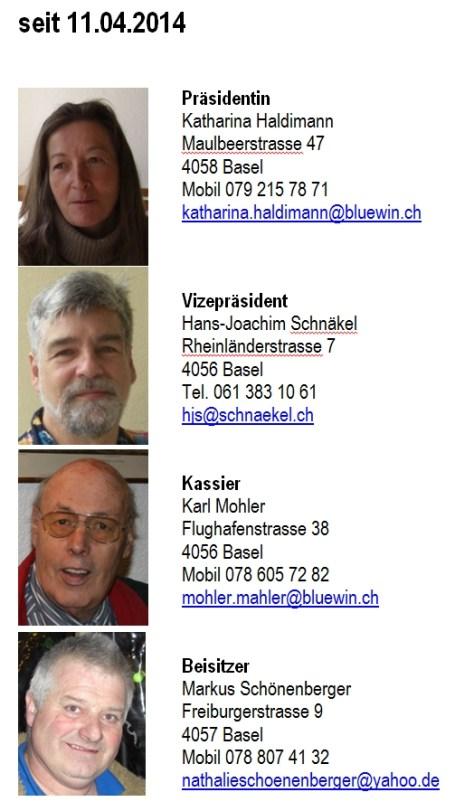 Vorstandsmitglieder per 11.04.2014
