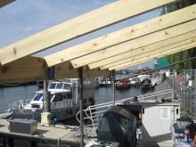 Neue Pultdachunterkonstruktion