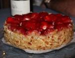 Erdbeertorte zum Dessert