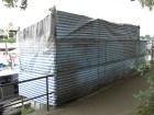 Wetterschutz Bändchengewebe blau/weiss