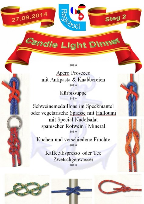 Speisekarte Candle Light Dinner 1
