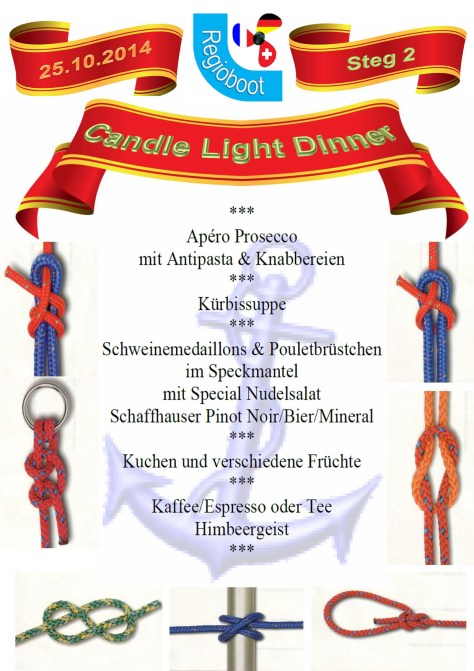 Speisekarte Candlelight Dinner 4