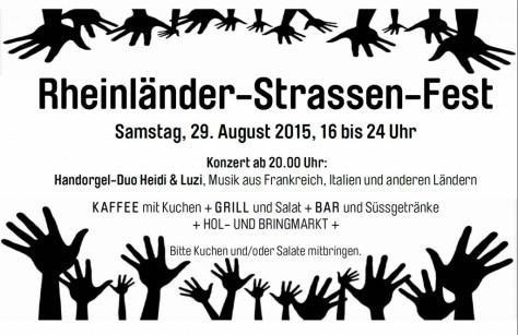 Rheinländerstrassenfest 2015