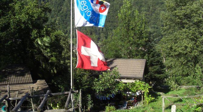 Regioboot Flagge im Tessin