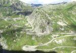 alte gepflasterte Passstrasse Gotthard - Airolo