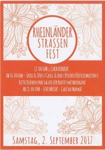 Flyer RheinländerStrassenFest 2017