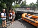 An der Bootseinwässerungsrampe SW-Ecke Regiebrücke Thun
