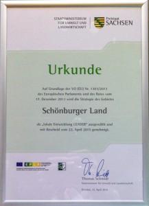 Urkunde: Schönburger Land