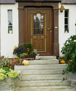 Beispiel: Eingangstür von einem Fachwerkhaus