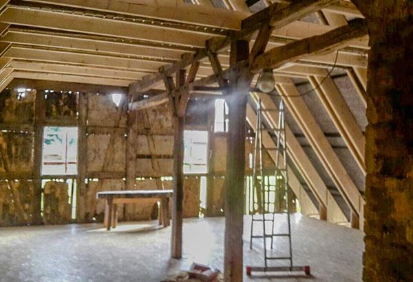 Sanierung des Dachstuhls