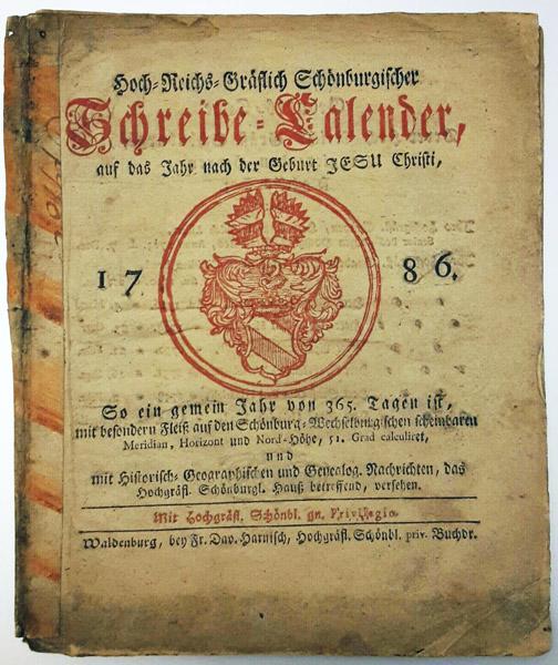 Bild: Schönburgische Hauskalender 1786