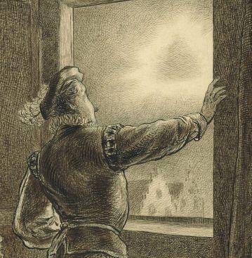 Nanning van Foreest ziet een merkwaardig verschijnsel in de lucht (detail).