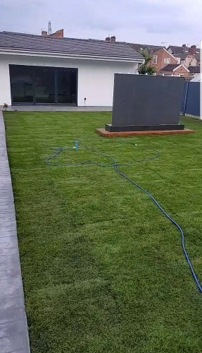 Landscaping rear garden plus building gym area Regional Contractors Builders In Leicester, Derby and the Midlands