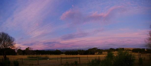 solstice yard view