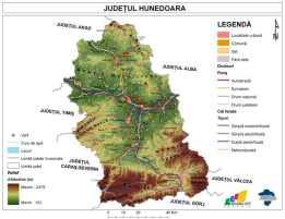 HUNEDOARA - Harta generala