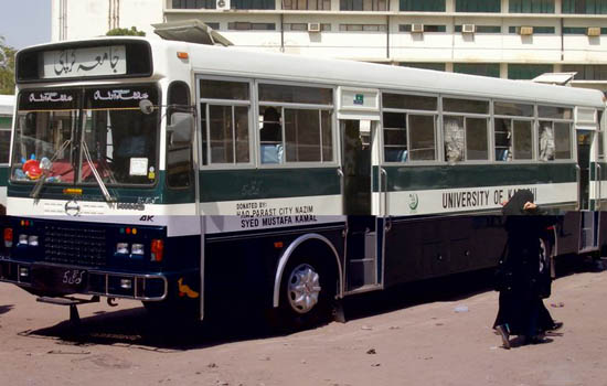 Karachi University Bus Point Schedule