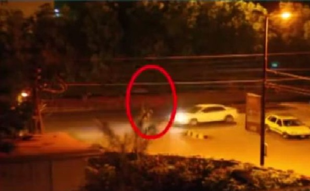 Ghost at Karsaz Road Karachi Caught in CCTV Footage