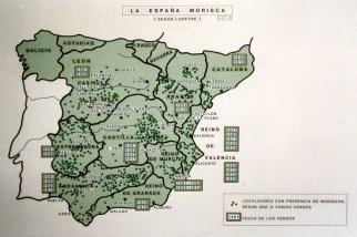 Localidades españolas con mayor presencia morisca según los censos realizados antes de su expulsión