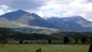 Chauen, población del Rif (norte de Marruecos). Los bereberes se instalaron en mayor medida en la Beturia y en el Fahs al-Ballut porque les recordaría a la región del Rif, de donde procedían