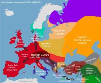 Expansión de los celtas primitivos desde la Cultura de Hallstatt
