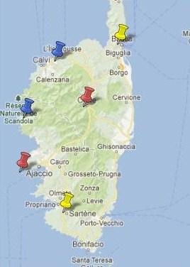 Villes et Villages Classés en Corse