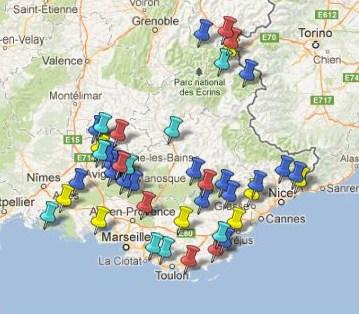 Villes et Villages Classés région PACA
