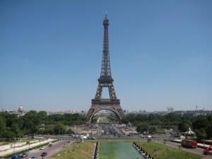 La Tour Eiffel vue depuis le Trocadéro