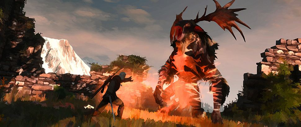 "Así sería The Witcher 3 con gráficos ""cel shading"""