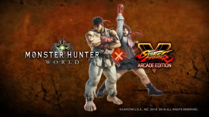 Anunciada una colaboración entre Monster Hunter World y Street Fighter V | Primer gameplay oficial