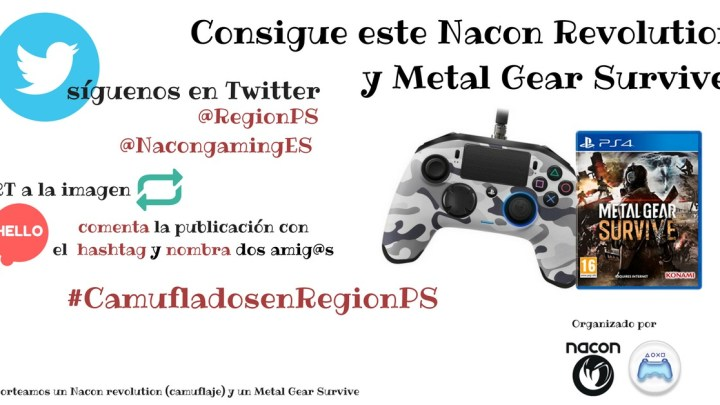 ¡Sorteamos un mando de Nacon Revolution para PS4 y una copia de Metal Gear Survive!
