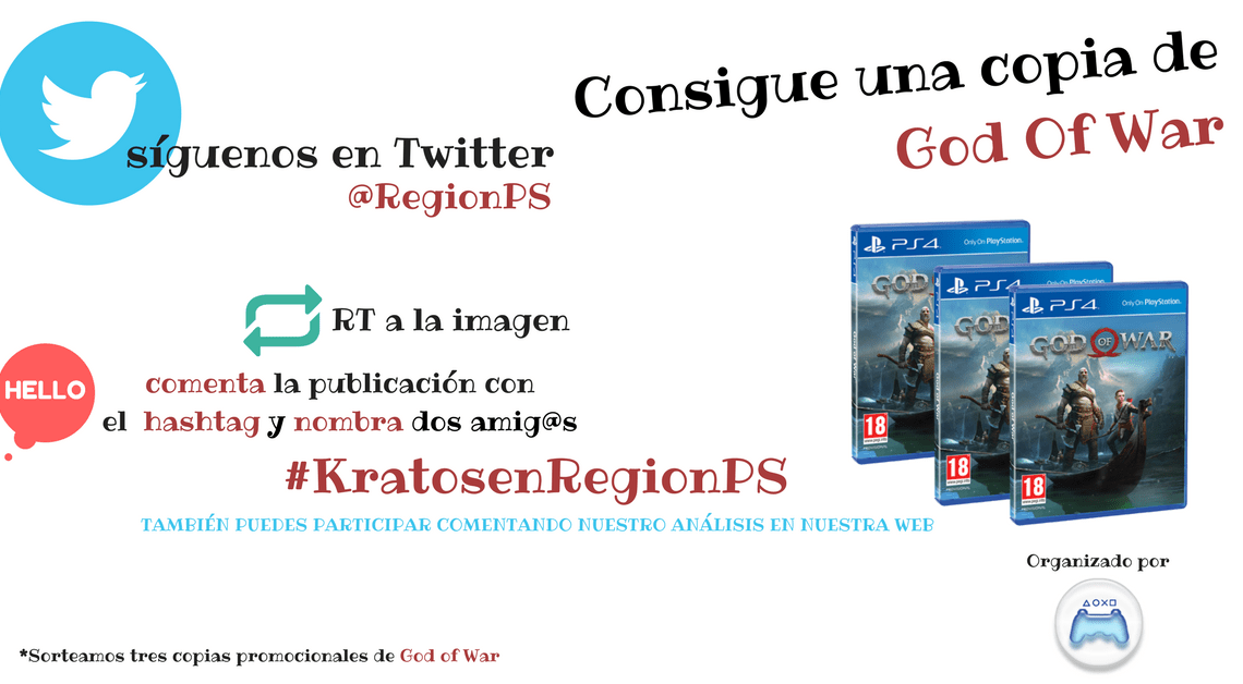 ¡Sorteamos 3 copias de God of War!