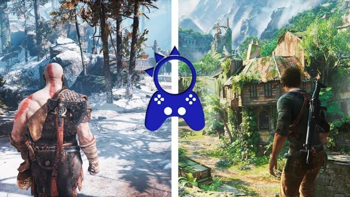 Comparan gráficamente en PlayStation 4 Pro Uncharted 4 y God of War