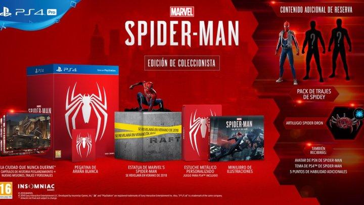 Sony muestra la edición coleccionista para Spider-Man