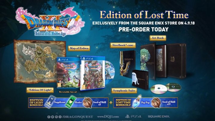 E3 2018 | Anunciada la carátula final y ediciones 'Light Edition' y 'Lost in Time Edition' de Dragon Quest XI