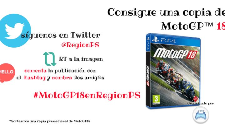 ¡Sorteamos una copia de MotoGP 18 para PlayStation 4!
