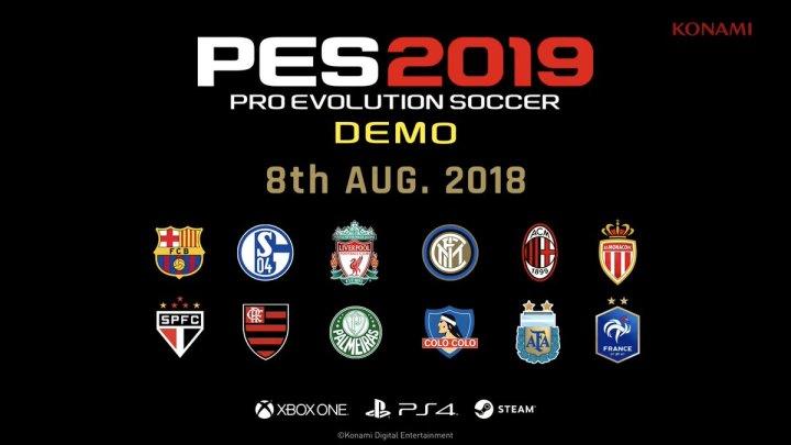 Confirmada la fecha de estreno para la demo de PES 2019   Revelada la lista de equipos disponibles