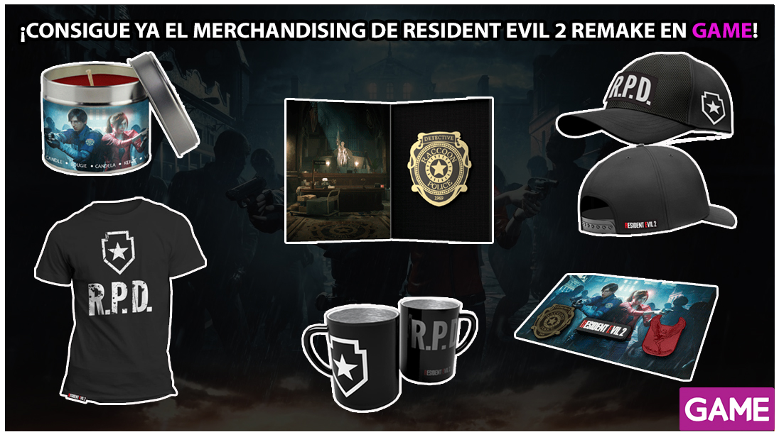 GAME revela el aterrador merchandising disponible de Resident Evil 2