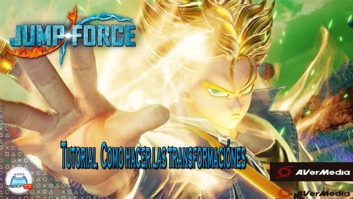 RegionTV | Tutorial | Jump Force: Cómo hacer las transformaciones