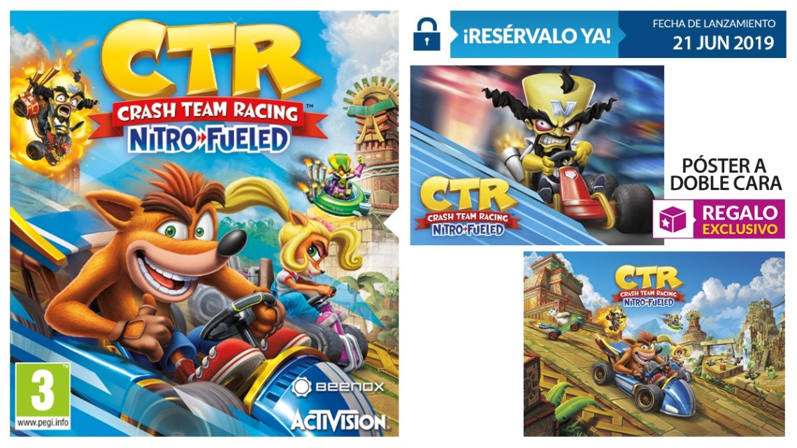 GAME anuncia los increíbles regalos por reservar Crash Team Racing: Nitro Fueled